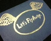 Let's Fly Away card and envelope