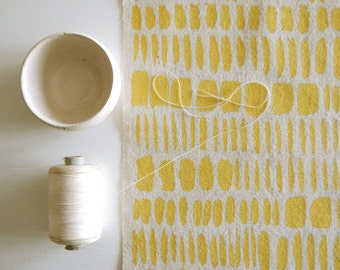 Brushstrokes - screen printed fabric - metallic colours
