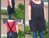 The Cross Back Apron Linen or Canvas One Size Fits Most