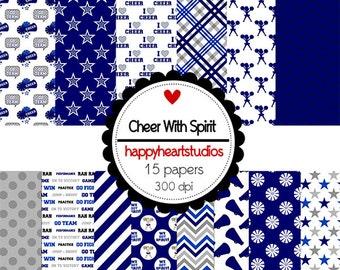Digital Scrapbook  CheerWithSpirit-INSTANT DOWNLOAD