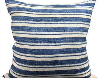 Vintage African Striped Mudcloth Pillow | LIDO