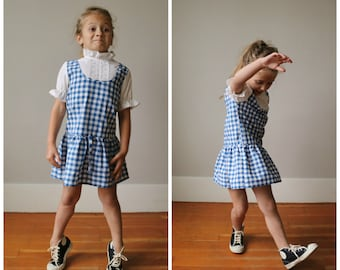 1970s Checkered Day Dress~Size 4t/5t