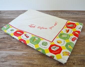 Tablecloth Calorie Counter Picnic Tablecloth Kitchen Linens Camping Tablecloth RV Decor