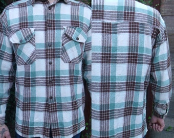 Vintage Plaid Flannel Shirt, Vintage Levi Shirt, 70's/80's Men's plaid Button Down