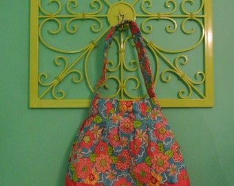Petite Pink and Floral Tote