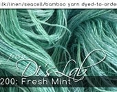 From the Lab - DtO 200: Fresh Mint on Silk/Linen/Seacell/Bamboo Yarn Custom Dyed-to-Order