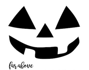 Jack O Lantern Pumpkin Face SVG digital cut file for Silhouette or Cricut Halloween