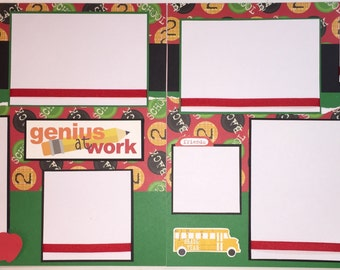 BACK TO SCHOOL 12 x 12 premade scrapbook pages - High School Middle School - Boy Girl