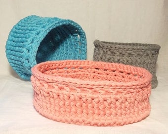 Tidy Up Baskets crochet pattern