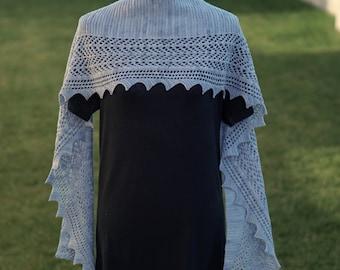 Alpine Point Shawlette/scarf PDF Knitting pattern