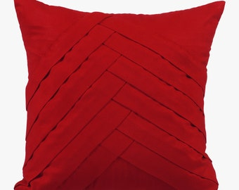 Red Pillow Cases 16x16 Couch Pillows Embroidered Suede Pillow Cover - Red No Limits No Lines