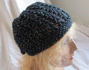 SALE - Black Sparkle Beanie (5356)