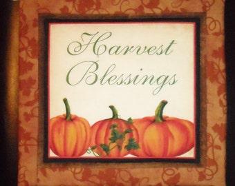 Pot Holder/Trivet - Harvest Blessings