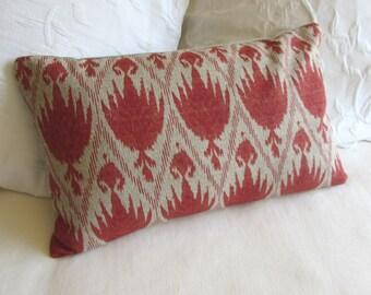 decorative Pillow 12x20 includes insert casablanca geranium fabric