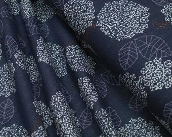 Kokka • Trefle Cucito • Hydrangea  • DOUBLE GAUZE Cotton Fabric 0.54yd (0,5m) 002766