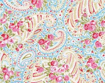 Free Spirit Tanya Whelan Roses Paisley Blue Delilah Fabric