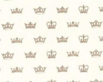 Michael Miller Princess Crowns Glitter  Fabric