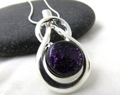Endurance - Royal Purple Glass Necklace - Silver and Glass Necklace - Ready to Ship
