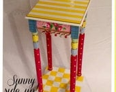 Painted table // whimsical painted table // painted accent table