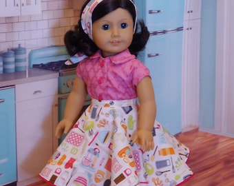 Baking Sweets - circle skirt ensemble for American Girl