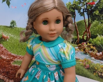 Spring Owl - vintage style dress for American Girl