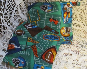 Pot Holders/ Trivets, Football Fabric Theme, 2 potholders