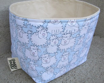 Medium Bucket - fabric storage bin kids room baby nursery