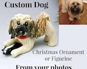 Dog Pet Custom from Photos Figurine Cake Topper Christmas Ornament Porcelain