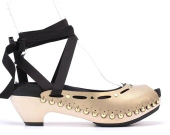 Mid Heel Hybrid Ribbon Sandal | Custom Fit, Vegan, Interchangeable | 6 Color Options