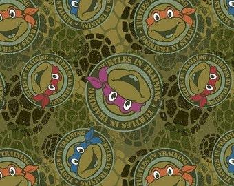 Disney licensed Turtle  knit 1 yard cotton spandex NEW