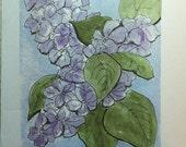 Watercolor Card of Lilacs