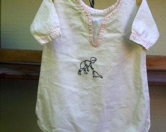 Vintage Baby Jumper Romper Embroidered