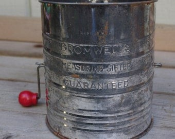 Vintage Bromwell's Flour Sifter