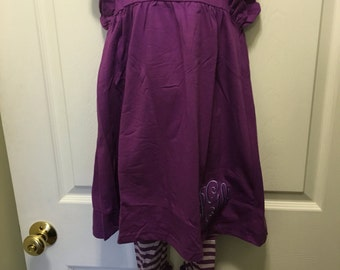 Back to school girl's outfit set  purple only