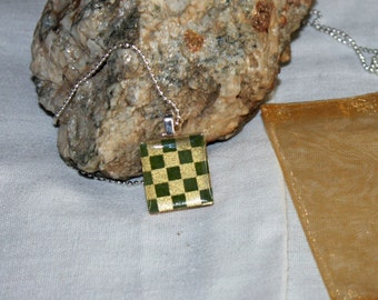 Checkers Anyone Scrabble Tile Necklace