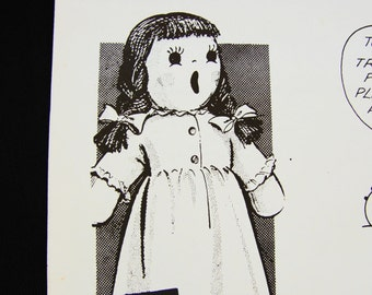 1960s Sock Doll Pattern, Mail Order Pattern Sock Doll with Nightgown Vintage Sewing Pattern