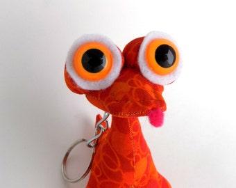 Cute Keychain, Toys for Boys, Easter Basket Stuffer, Alien Keychain, Dragon Keychain by Adopt an Alien named Regi