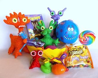 Easter Basket LARGE, Alien Easter Basket with Handmade Alien Toys, Easter Basket for Boys by Adopt an Alien