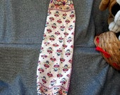 Plastic Bag Holder Sock, Tatoo Floral Henna Ivory Print