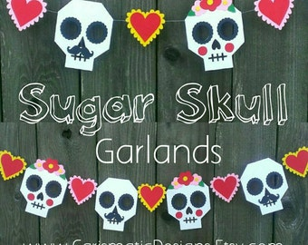 Wedding Garland, Sugar Skulls, Bride and Groom, Mexican Wedding Garland, Day of the Dead, Dia de los Muertos