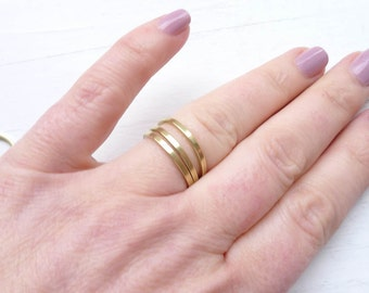 Size 8 Ring Thin Brass Ring 1.6mm Dainty Stacking or Soldering for Jewelry Making Ring Blank (RHBU408)