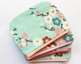 NEW LOWER PRICE - small zipper pouch - coin pouch