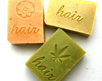 Shampoo Bar Set of 3 Your Choice - Hair Shampoo - Solid Shampoos - Palm Free Shampoo Bars - SLS Free Shampoo