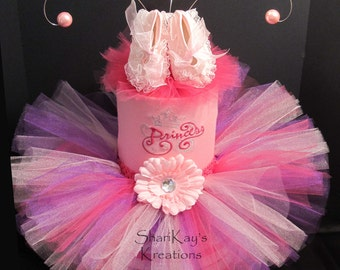 SALE - Diaper Cake, Unique, Girl, Princess, Tutu, Baby Shower, Centerpiece, Baby Gift