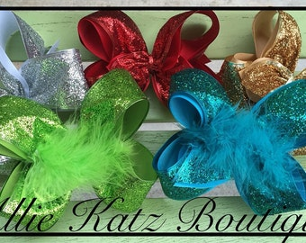Holiday Bling Glitter Sparkle Party boutique hair bow