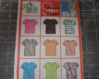 Butterick 3086  Misses T Shirtt, Blouse, Top  Pattern Size L-XL ( 16-22)
