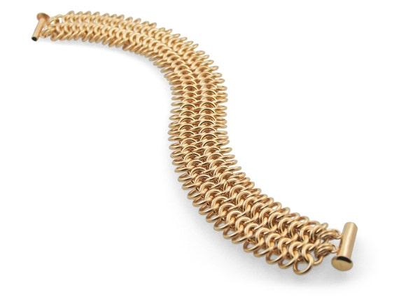 Classic Gold Mesh Bracelet