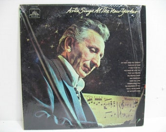 Vintage LP Artie Sings At The New Yorker Jazz Lounge Art Mineo Record Album on Arwan in Shrink
