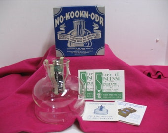 Vintage Dr. Satish No-Kookn-Odr Incense Vaporizer Burner in Original Box  Deco Vaporincense Kitchen Incense No Cookin Odor