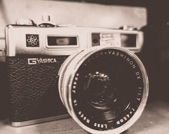 Vintage Yashica Electro 35 GSN Camera Fine Art Print - Vintage, Nostalgic, Japanese Photography, Gift, Photographer, Lens, Shutter, Retro